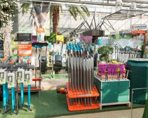 Warenplatzierung im Gartenfachmarkt